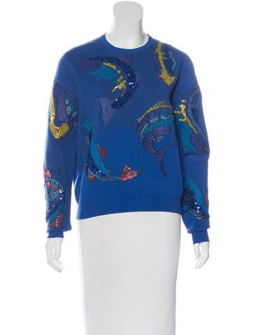 Kenzo Embellished Crew Neck Sweatshirt