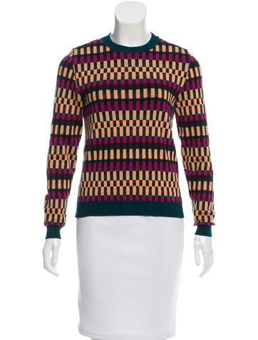 Kenzo Geometric Pattern Crew Neck Sweater None