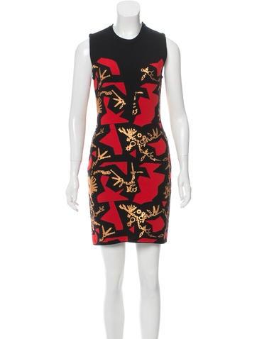 Kenzo Patterned Brocade Dress None