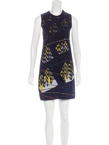 Kenzo Metallic-Accented Knit Dress None