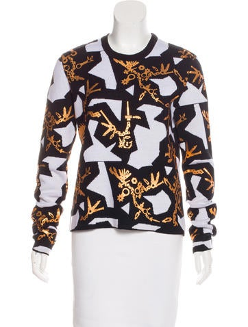 Kenzo Printed Metallic Sweater None