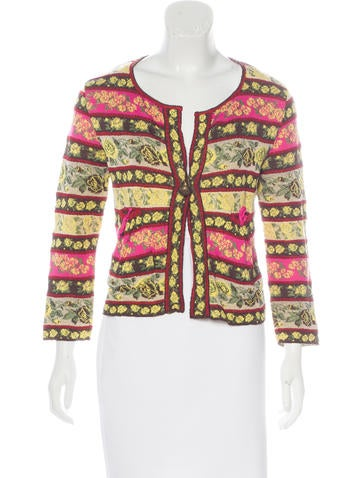 Kenzo Patterned Knit Cardigan None
