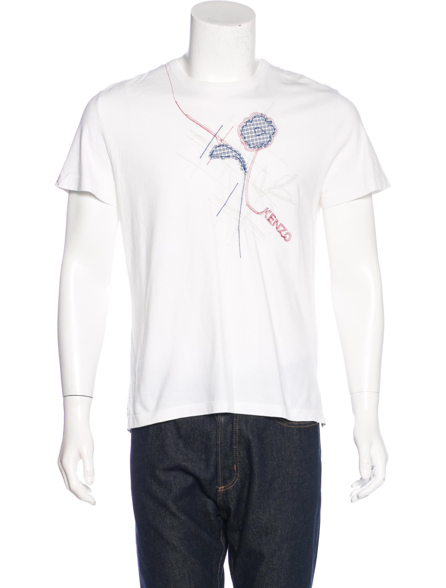 Kenzo embroidered short sleeve t shirt clothing for How to embroider t shirts