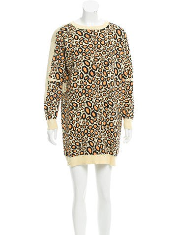 Kenzo Patterned Sweater Dress None