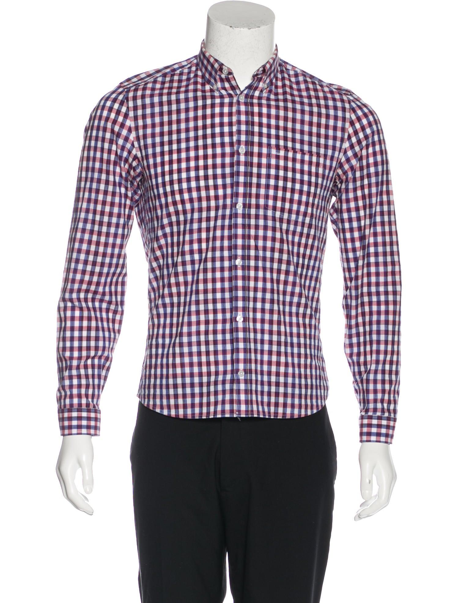 Kenzo gingham dress shirt clothing ken25587 the realreal for Gingham dress shirt men