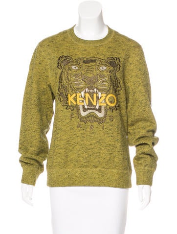 Kenzo Logo Marled Sweatshirt None