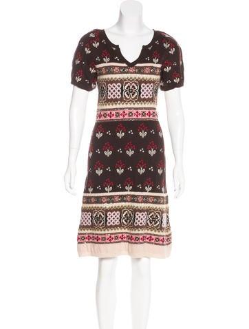 Kenzo Wool Embellished Dress None