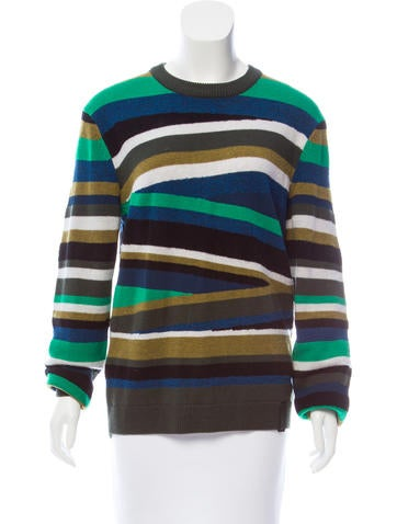 Kenzo Striped Wool Sweater None