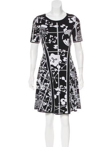 Kenzo A-Line Intarsia Dress None