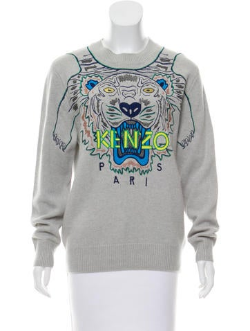 Kenzo Logo Embroidered Sweater None