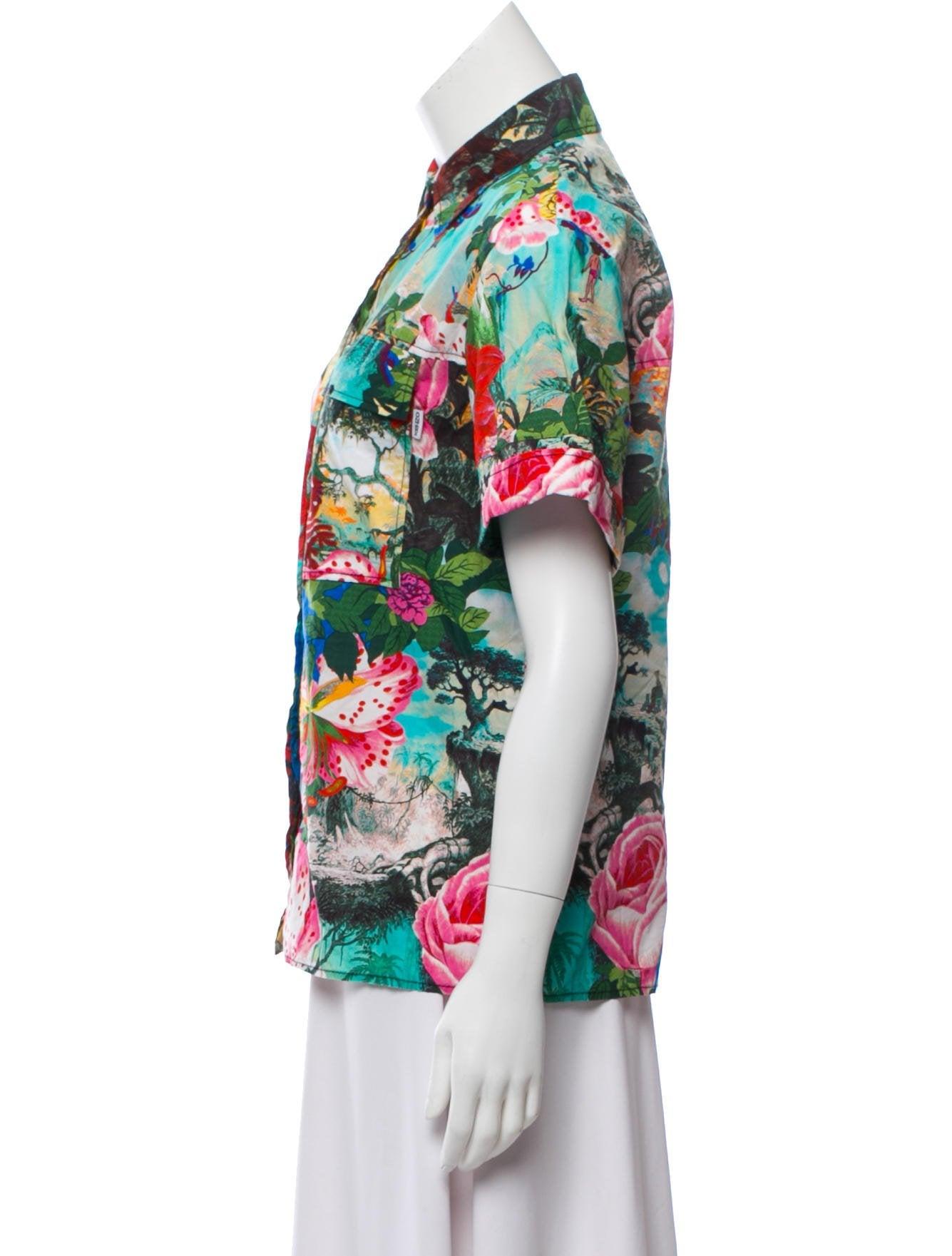 45340fb5ad7a Kenzo 2016 Jungle Book Printed Top - Clothing - KEN28879