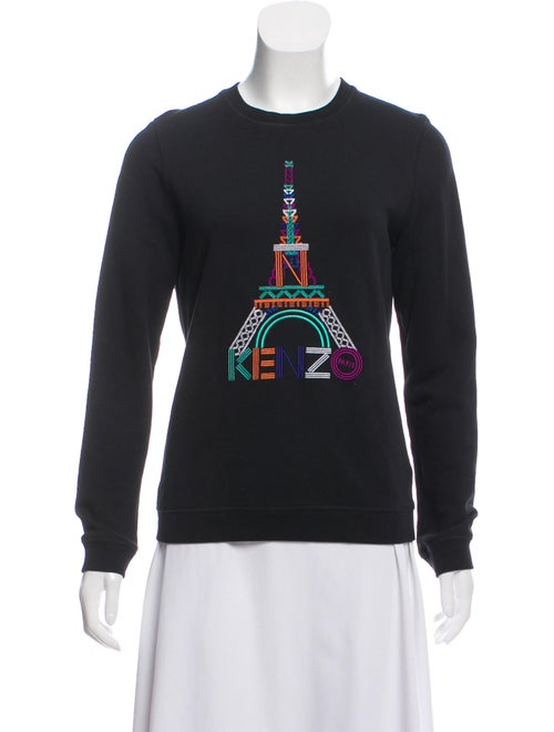 Kenzo Embroidered Graphic Print Pullover Sweatshir