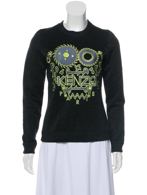 Kenzo Metallic Embroidered Sweater Black