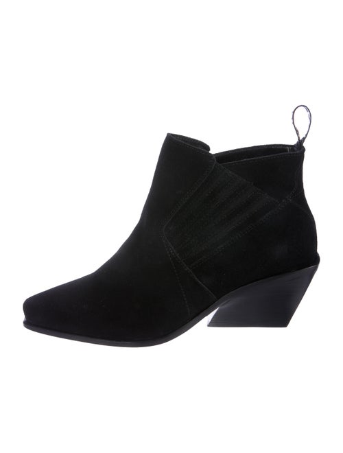 Kenzo Suede Square-Toe Boots Black