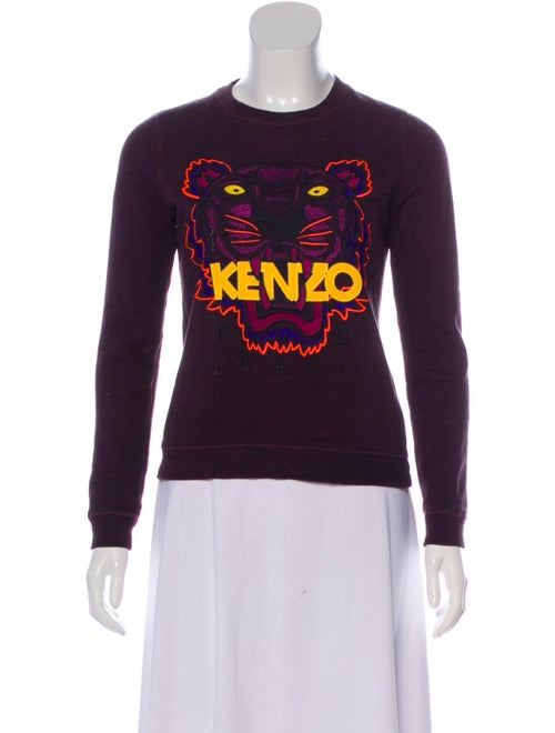 Kenzo Embroidered Knit Sweater multicolor