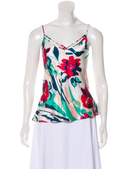 Kenzo Silk Sleeveless Top multicolor
