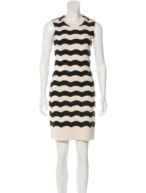 Kenzo Striped Mini Dress black