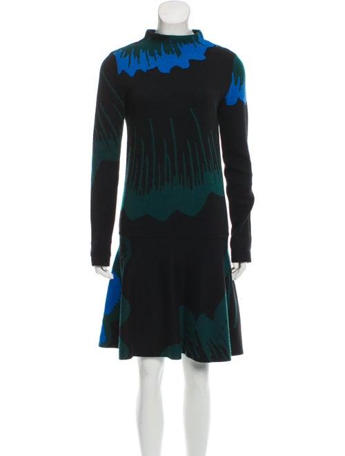 Kenzo Patterned Sweater Dress Black