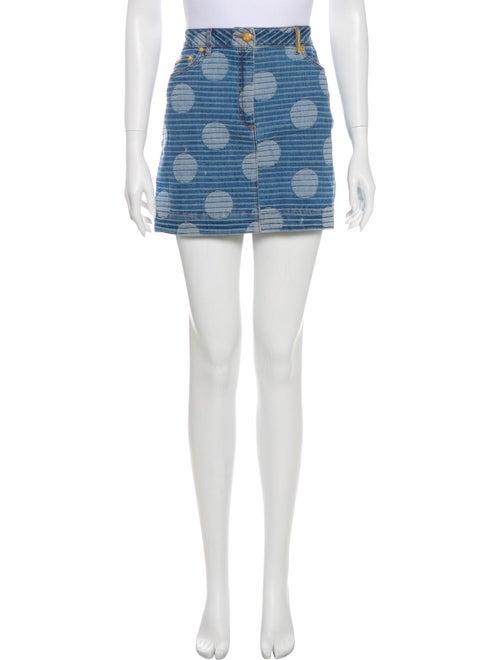 Kenzo Polka Dot Print Mini Skirt Blue