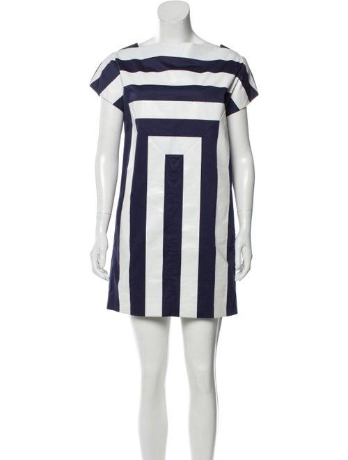 Kenzo Striped Mini Dress Blue