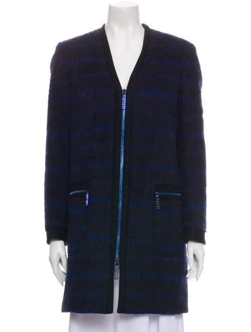 Kenzo Striped Coat Black