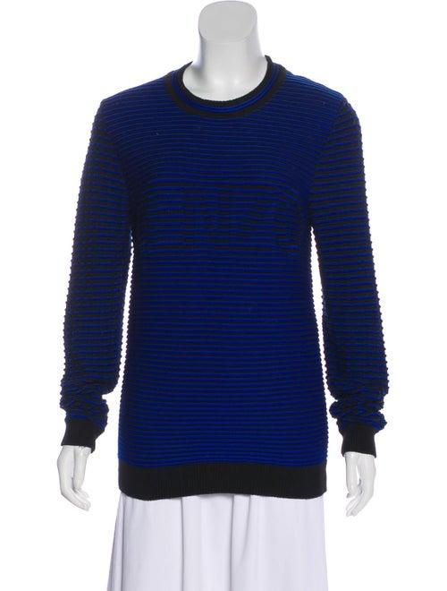 Kenzo Striped Knit Sweater Blue