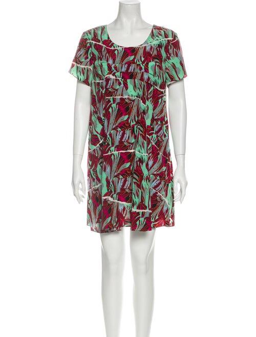 Kenzo Silk Mini Dress Green