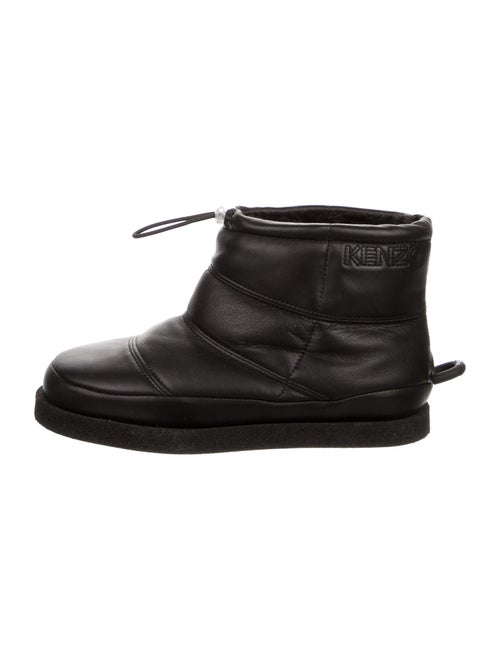 Kenzo Leather Boots Black
