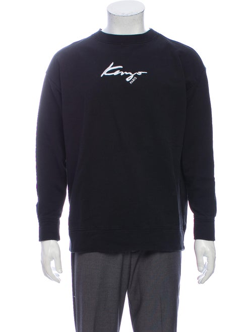 Kenzo Graphic Print Crew Neck Sweatshirt Black
