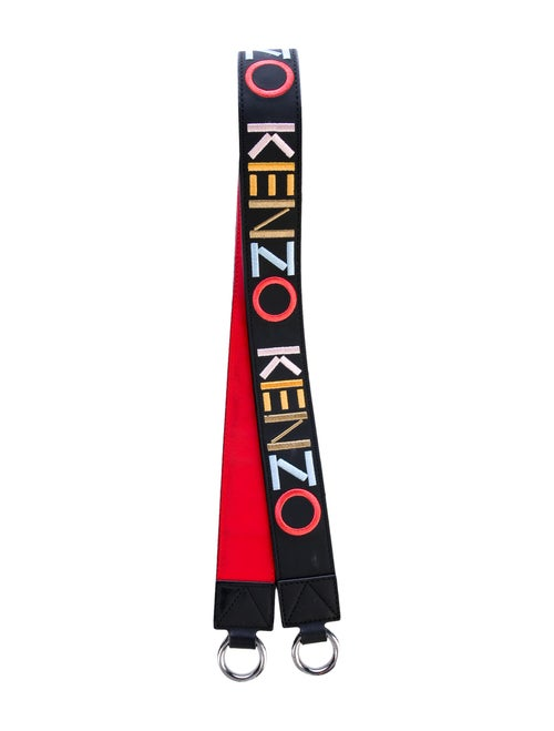 Kenzo Logo Embroidery Shoulder Strap Black