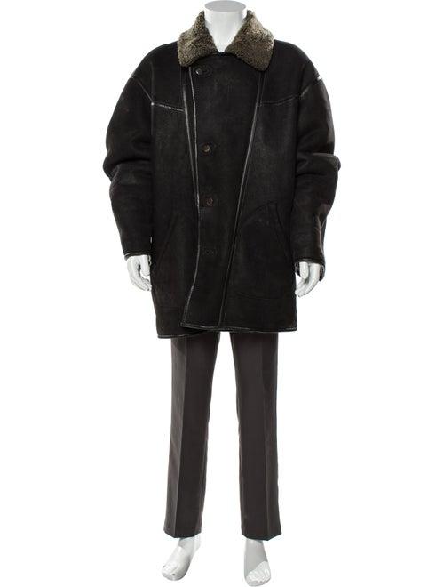 Kenzo Leather Coat Black