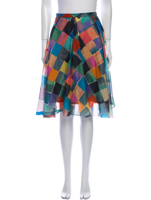 Kenzo Silk Knee-Length Skirt