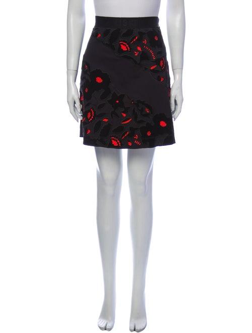 Kenzo Printed Mini Skirt Black