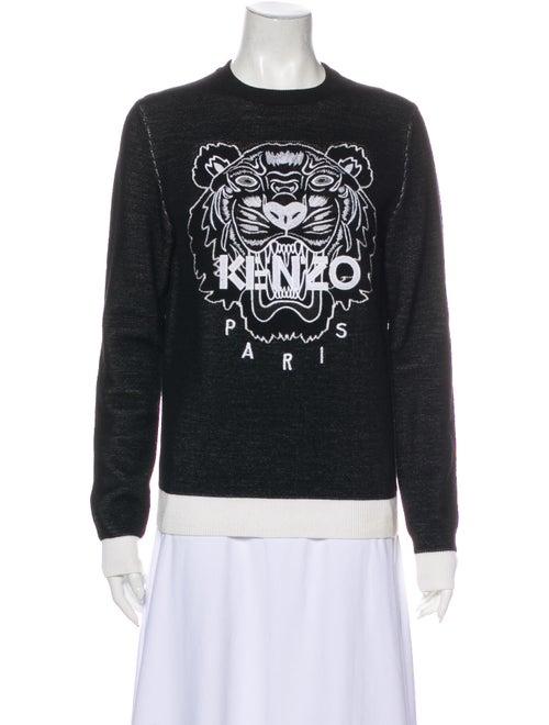 Kenzo Graphic Print Crew Neck Sweater Black