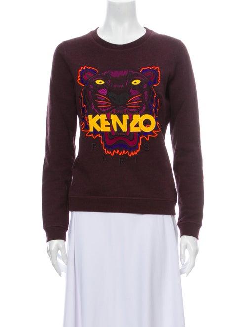 Kenzo Graphic Print Crew Neck Sweater