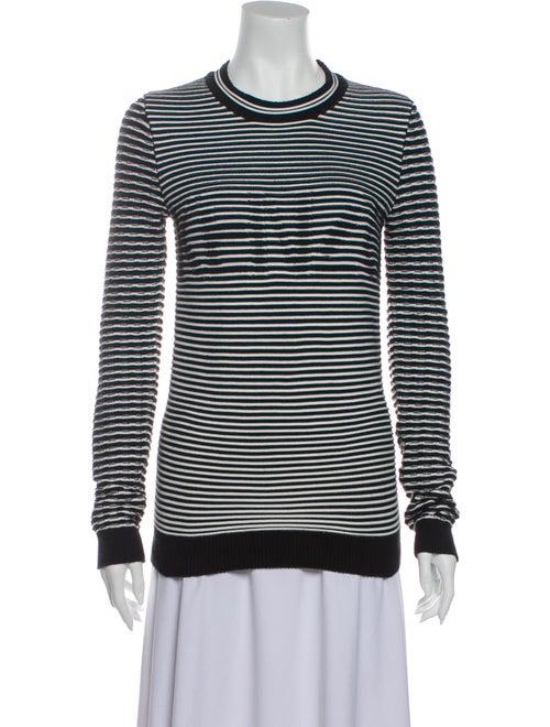 Kenzo Striped Crew Neck Sweater Black