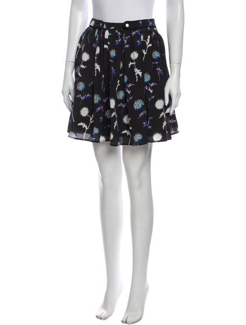 Kenzo Silk Mini Skirt Black