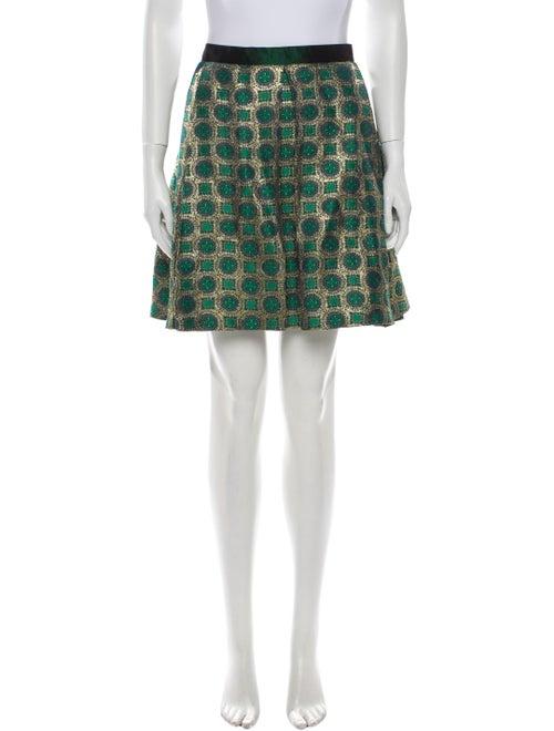 Kenzo Printed Mini Skirt Green