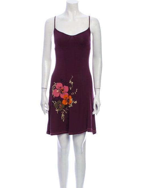 Kenzo Floral Print Mini Dress