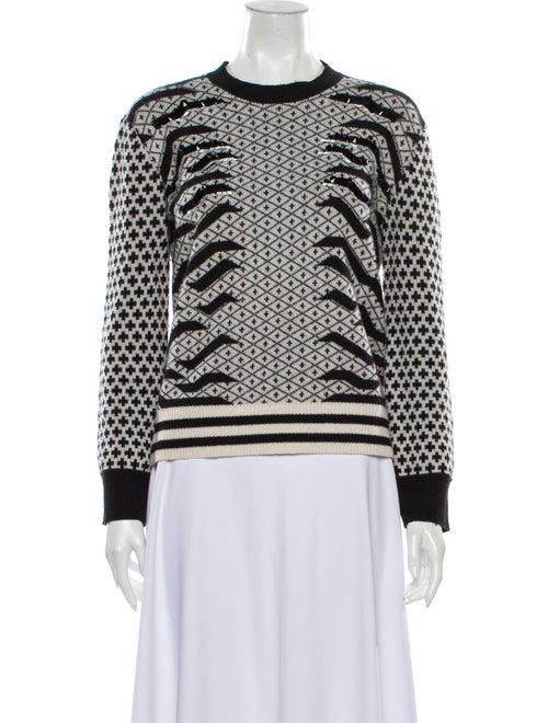 Kenzo Wool Patterned Sweater Wool