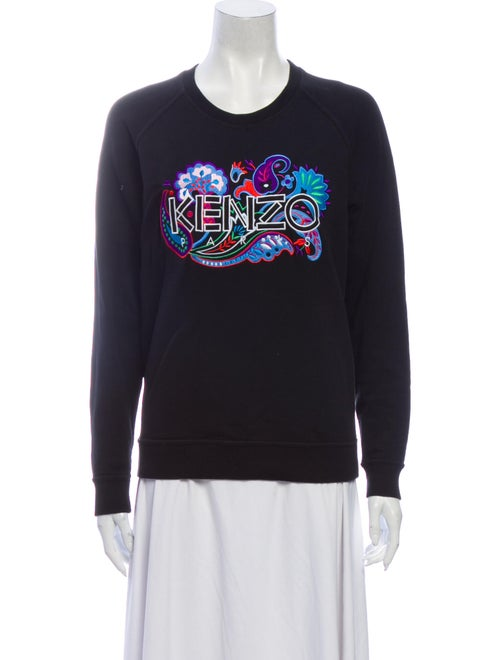 Kenzo Graphic Print Crew Neck Sweatshirt Black