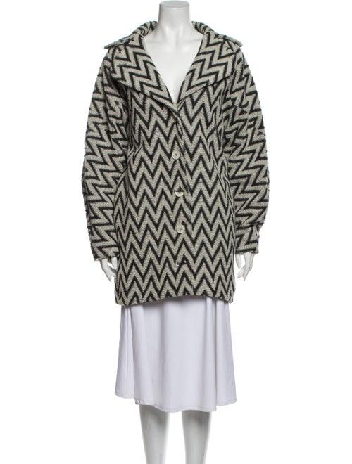 Kenzo Striped Coat Grey