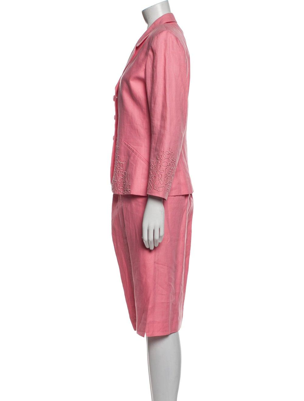 Kenzo Vintage Linen Skirt Suit Pink - image 2