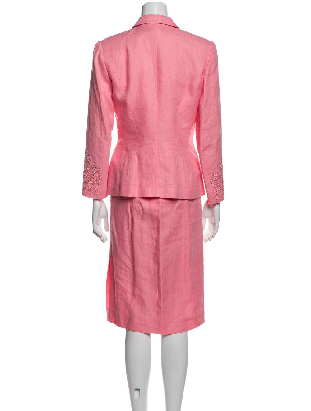 Kenzo Vintage Linen Skirt Suit Pink - image 3