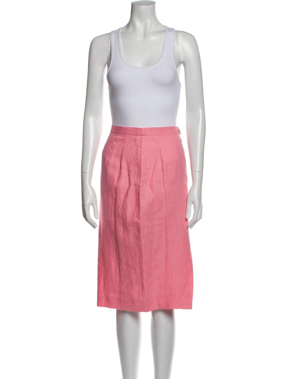Kenzo Vintage Linen Skirt Suit Pink - image 4