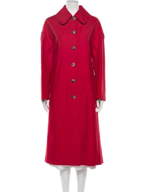 Khaite Trench Coat Red