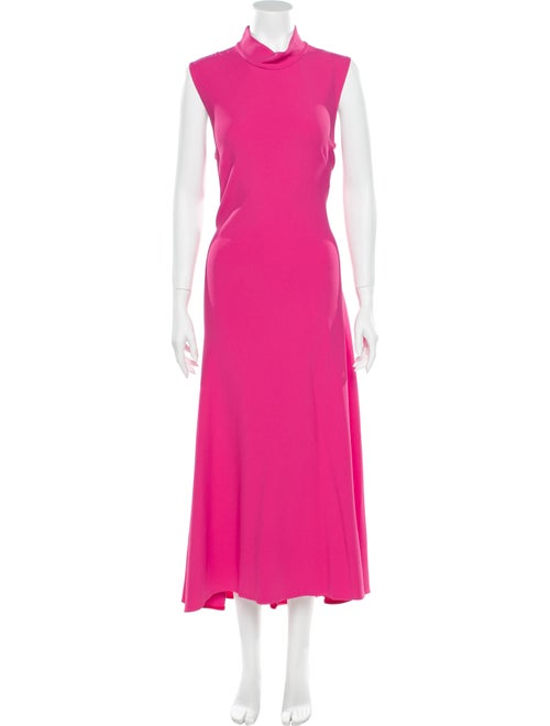 Khaite Turtleneck Long Dress Pink