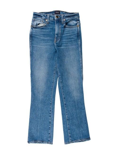 Khaite Mid-Rise Straight Leg Jeans Blue