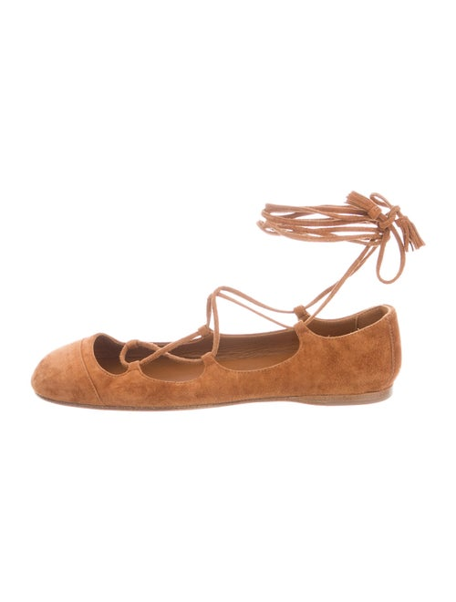 Khaite Suede Flats Brown