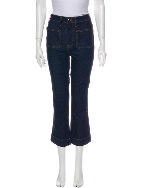 Khaite High-Rise Flared Jeans Blue